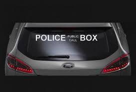 Police Public Call Box Window Decal Sticker Custom Sticker Shop