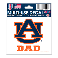 Auburn Tigers Wincraft Dad 3 X 4 Decal