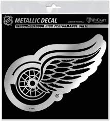 Amazon Com Detroit Red Wings 6 Silver Metallic Style Decal Die Cut Sticker Vinyl Auto Hockey Sports Outdoors