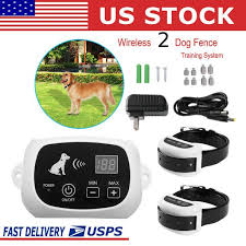 Outdoor Wireless 2 Dog Fence No Wire Pet Containment System Rechargeable 2 In 1 Walmart Com Walmart Com