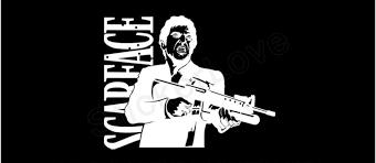 Amazon Com Scarface Tony Montana Car Truck Window Bumper Vinyl Graphic Decal Sticker Size 12 Inch 30 Cm Wide Color Matte Black