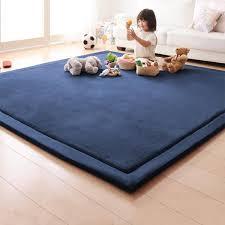 Coral Fleece Mat Sponge Carpet Children Baby Crawling Pad Tatami Bedroom Living Room Rectangle Carpet Wish Living Room Carpet Large Living Room Rugs White Rug
