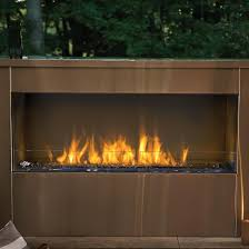 outdoor built in natural gas fireplace