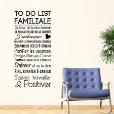 Amazon Com Zaidao Vinyl Wall Sticker Decal Quote Home Decor To Do List Familiale For Living Room Bedroom Home Kitchen