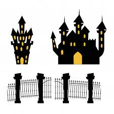 Premium Vector Castles Haunted With Gate Cemetery