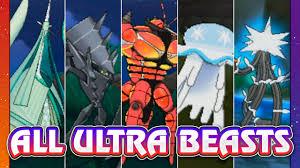 POKEMON SUN & MOON ALL ULTRA BEASTS!! - YouTube