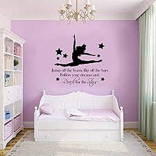 gymnast gymnastic girls bedroom quote