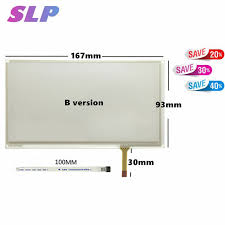 Skyllarpu 6.95 inch 4 wire Resistive Car navigation Touch Screen Panel  replacement For TM070RDH01/ C070VW03 V0 167mm*93mm Touch-in Mobile Phone  Touch Panel from Cellphones & Telecommunications on AliExpress