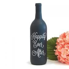 Happily Ever After Wine Bottle Vase Vinyl Decal For Wedding Centerpiece Decoration 2678074 Weddbook