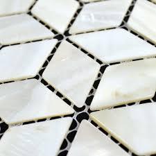 natural white shell tiles diamond