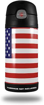 Amazon Com Skin Decal Wrap For Thermos Funtainer 12oz Bottle Usa American Flag 01 Bottle Not Included By Wraptorskinz Everything Else