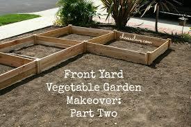 front yard vegetable garden makeover