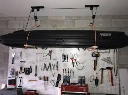 diy garage ceiling pulley lift