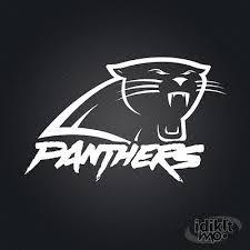 Carolina Panthers Decal White Ebay