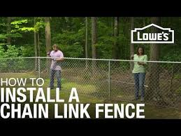 How To Install A Chain Link Fence Youtube