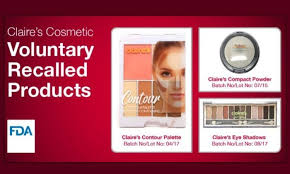 recalls various cosmetic s