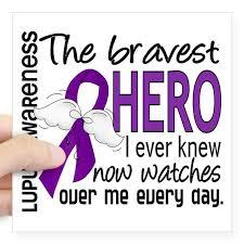 Cafepress Bravest Hero I Knew Lupus Square Sticker 3 X 3 Square Sticker 3 X 3 Walmart Com Walmart Com