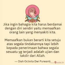 jika ingin bahagia kita h quotes writings by diah octivita