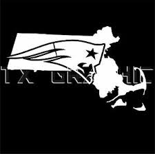 New England Patriots Sticker The State Of Massachusetts Vinyl Decal Boston Car Ebay