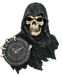 grim reaper wall clock as gothic