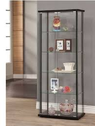 wood cabinet iron glass display storage
