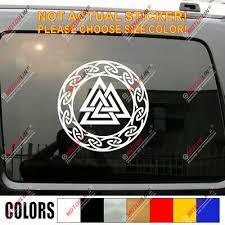 Valhalla Valknut Decal Sticker Odin Viking Norse Car Vinyl Pick Size Color Ebay