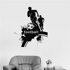 Football Player Sticker Sports Soccer Decal Home Decor Kids Room Name Posters Vinyl Wall Decals Football Sticker M702 Sale Up To 70 Stickersmegastore Com