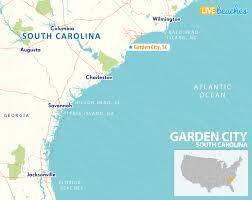 map of garden city south carolina