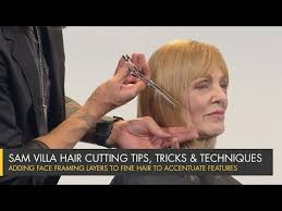 adding face framing layers to fine hair
