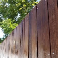 Crazy Merbau Decking Screen Fixed With Stainless Steel Screws Ecobuilt Landscaping Brisbane Sloped Garden Fence Design Pergola Shade