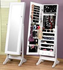 mirrored jewelry storage cabinet