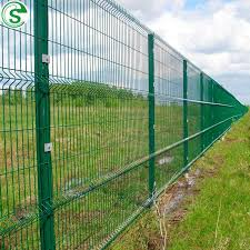China Rigid Steel Wire Panel Weld Mesh Fence Green Coated For Perimeter Villa China Villa Fence Steel Wire Fence