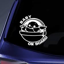 2020 Baby Yoda On Board Ship Sticker Decal Notebook Car Laptop Gift For Fans And Collector White From Huangcc31 1 21 Dhgate Com