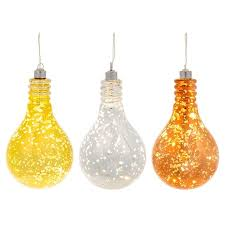 hanging glass light bulb with led fairy