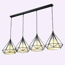 diamond iron cage art pendant lamp
