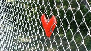 Making Colorful Hearts Decorations On Wire Fence Simple Craft Ideas For Kids And Adults