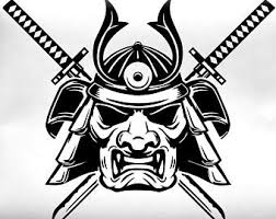 Samurai Mask Decal Etsy