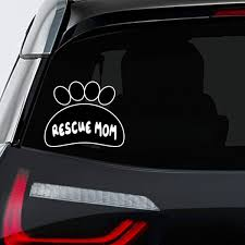 Amazon Com Makoroni Rescue Mom Cat Car Laptop Wall Sticker Decal 5 By6 Small Or 7 5 By9 Large Automotive