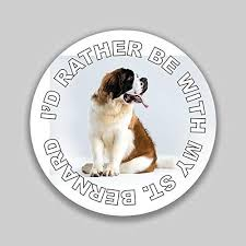 Amazon Com Jb Print I D Rather Be With My Saint Bernard Dog Mom Dad Animal Lover Vinyl Decal Sticker Car Waterproof Car Decal Bumper Sticker 5 Kitchen Dining