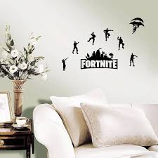 New Fortnite Wall Sticker Art Vinyl Decal Game Room Graphic Transfer Art Decor Boy Room Wall Decals Wish