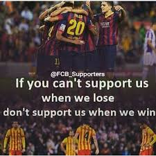 viscabarca fcbarcelona fcb supporters this is the true quote for