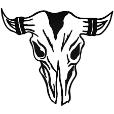 Longhorn Bull Skull 3 Vinyl Decal Sticker
