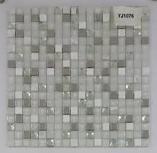 china white glasarble mosaic for