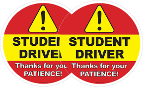 Amazon Com 2 Pack Student Driver Car Window Decal Be Patient Beginner New Driver Driving Ed Removable Sticker Caution Beware Learners Permit Rookie Suv Sign 2 Arts Crafts Sewing