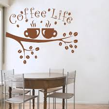 Coffee Life Tree Branches Wall Decal Coffee Tree Wall Sticker For Coffee Shop Restaurant Wall Art Poster Vinyl Murals S 211 Tree Wall Sticker Wall Stickerstickers For Aliexpress