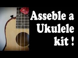 assemble an ukulele kit from