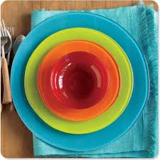 sol dinnerware from recycled glass