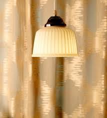 kraz white glass hanging lights by