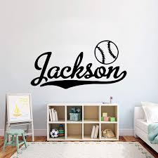 Amazon Com Baseball Wall Decal Baseball Stickers Decals Baseball Wall Stickers Kids Room Home 765re Home Kitchen