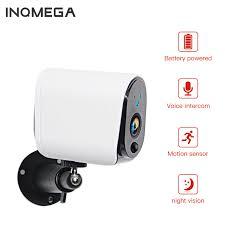 Inqmega 100% Dây Giá Rẻ Camera IP Ngoài Trời 1080P Không Dây Camera Giám Sát  An Ninh Ngôi Nhà IP65 Pin Chống Nước Wifi Ip camera|